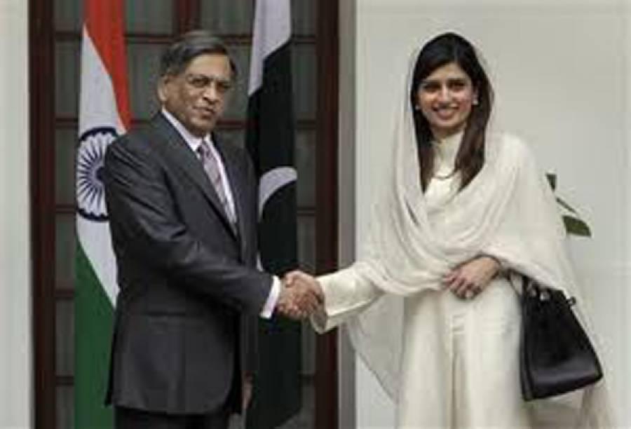 وزیرخارجہ حناربانی کھر کی بھارتی ہم منصب سے ملاقات