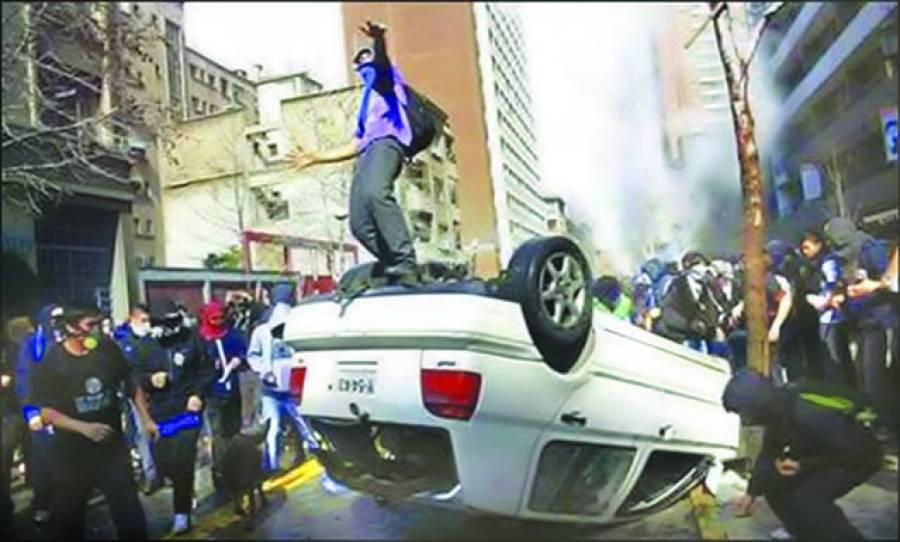 سان تیاگو:چلی میں تعلیمی پالیسی کے خلاف طلبہ کا احتجاج جاری ہے
