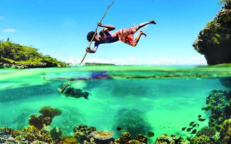 جوہانسبرگ: ماہی گیر کا مچھلی پکڑنے کا خوبصورت منظر