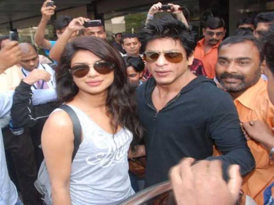 شاہ رخ خان 'ہیپی نیو ایئر'میں پریانکا چوپڑا کے ساتھ ۔ ۔ ۔