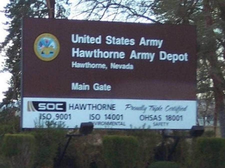 امریکی ریاست نیوڈا کے ہاﺅتھ رون آرمی ڈپو میں دھماکہ،چھ فوجی ہلاک ،آٹھ زخمی
