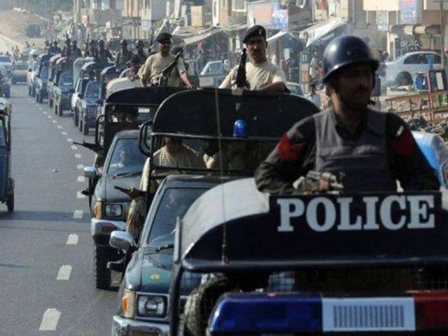 ملیر سٹی اور شاہ لطیف ٹاﺅن میں پولیس کا فلیگ مارچ