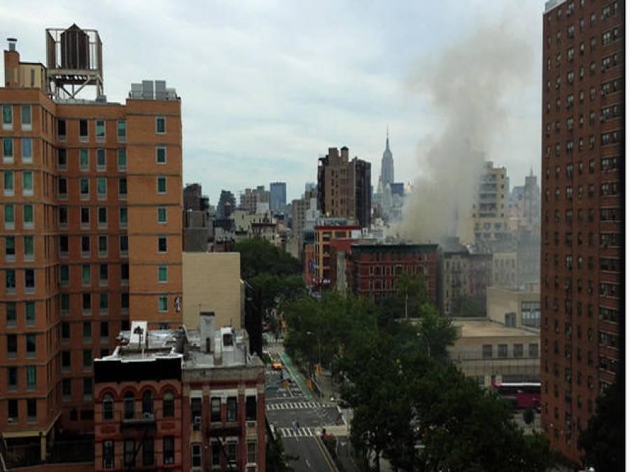 نیو یارک کی عمارت میں آتشزدگی، آٹھ افراد جھلس گئے