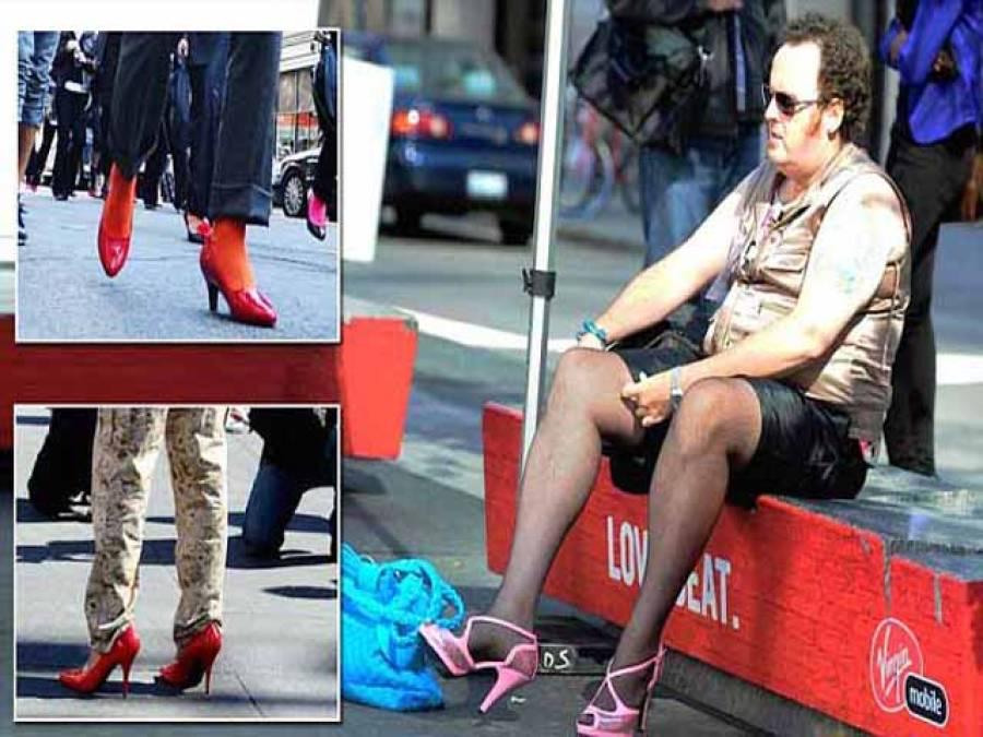 برطانوی مردوں میں مقبول زنانہ جوتیاں