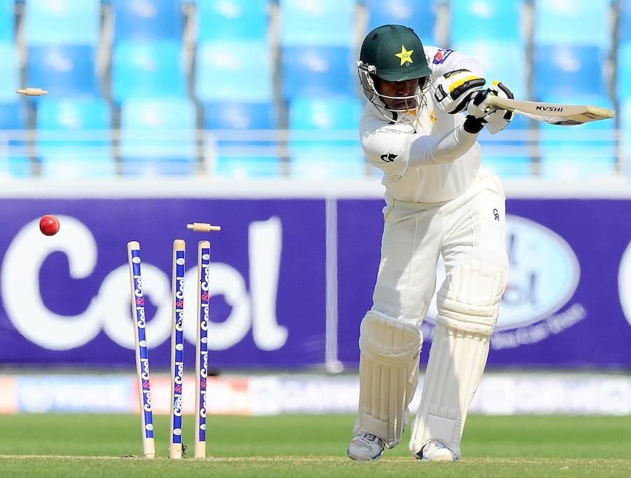 دوسرا ٹیسٹ: قومی ٹیم پہلی اننگز میں 165 پر ڈھیر، سری لنکا نے 1 وکٹ کے نقصان پر 57 رنز بنا لئے