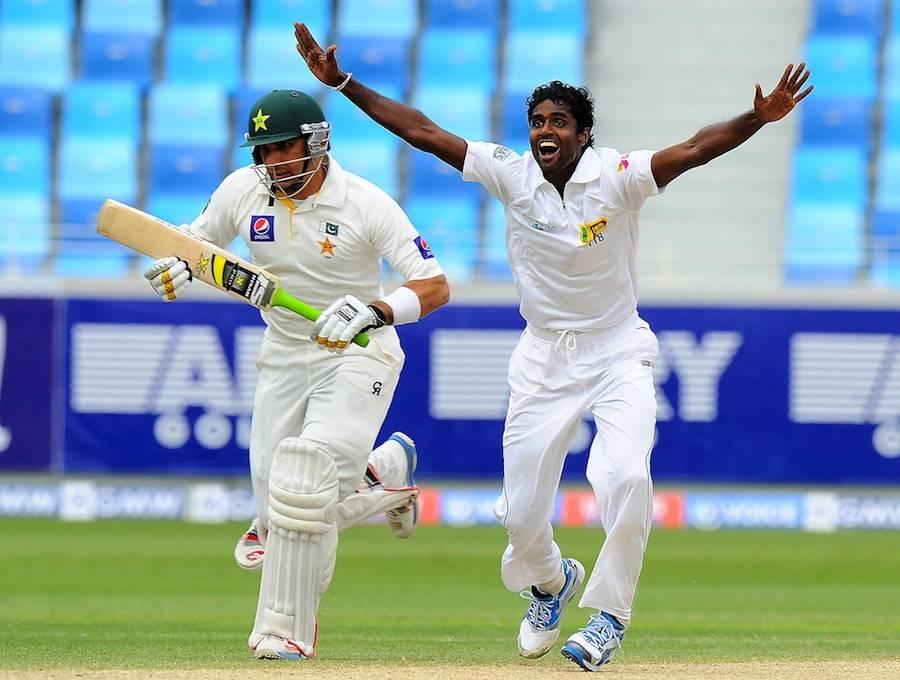 دوسرا ٹیسٹ: پاکستان کے 7 وکٹوں پر 330 رنز، سری لنکا کے خلاف 107 رنز کی برتری حاصل