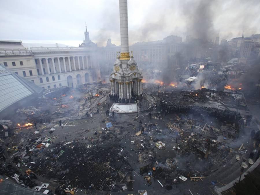 یوکرائن:مظاہرین نے صدر پر عدم اعتماد کر دیا