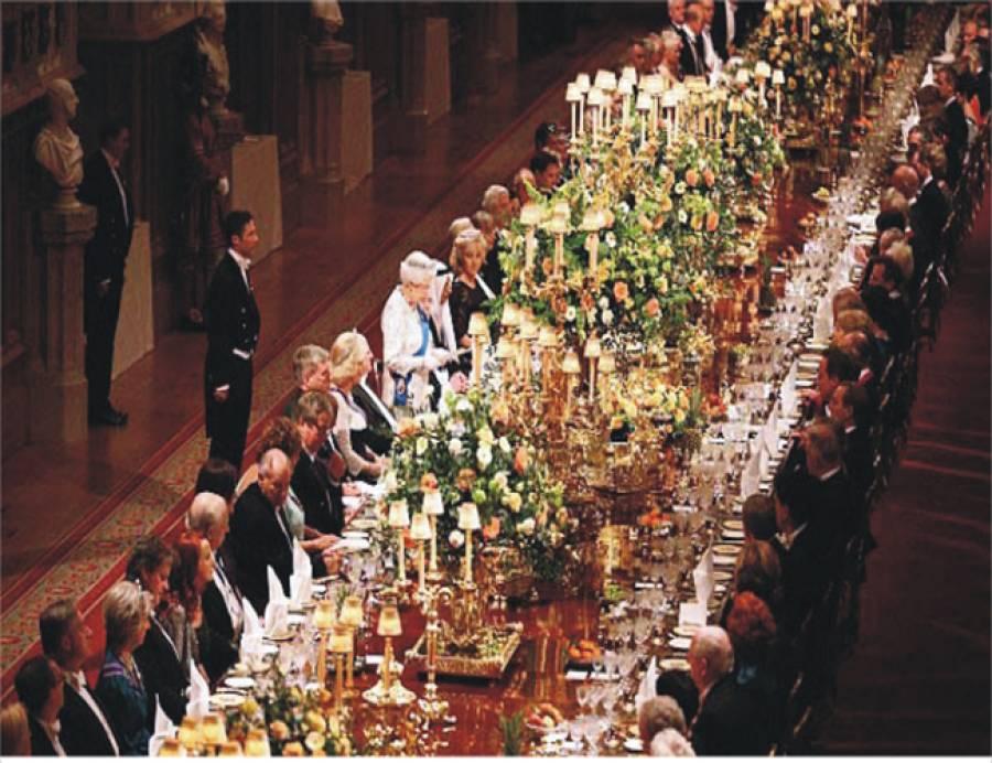 ملکہ الزبتھ کا شاہی میز