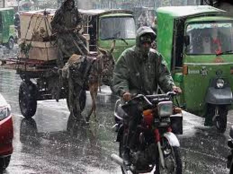 لاہور میں بارش سے موسم خوشگوار ہو گیا