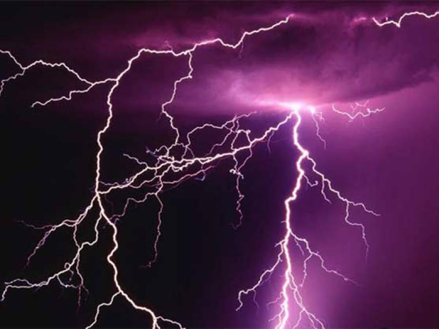 ملک کے مختلف شہروں میں آسمانی بجلی گرنے کے واقعات میں بچے سمیت 6 افراد جاں بحق
