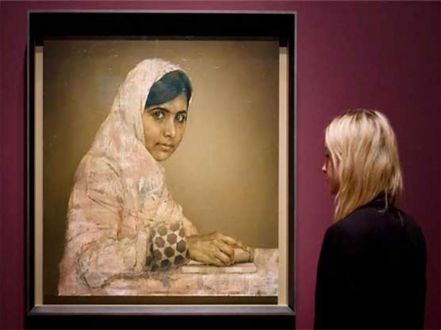 ملالہ یوسف زئی کا پورٹریٹ نیویارک میں نیلامی کے لئے پیش کر دیا گیا