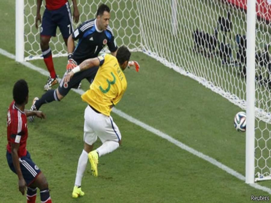 فٹبال ورلڈ کپ:برازیل, کولمبیا کو ہرا کر سیمی فائنل میں پہنچ گیا