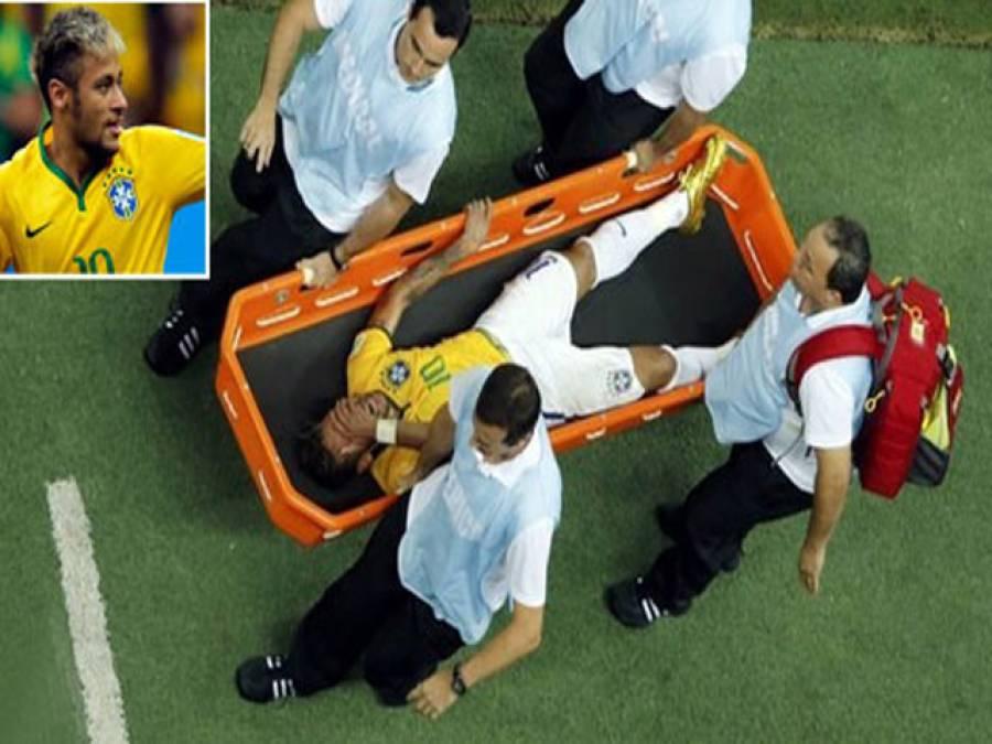 فیفا ورلڈ کپ: برازیل کے سٹارکھلاڑی نیمار میگا ایونٹ سے باہرہوگئے