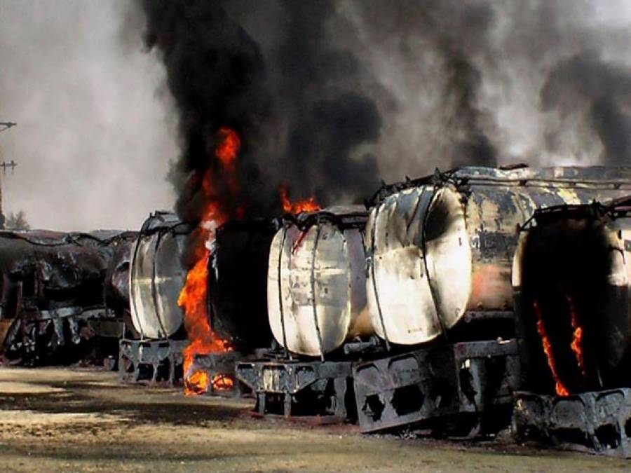 افغانستان :نیٹو کے 400 ٹرک نذر آتش کر دیئے گئے