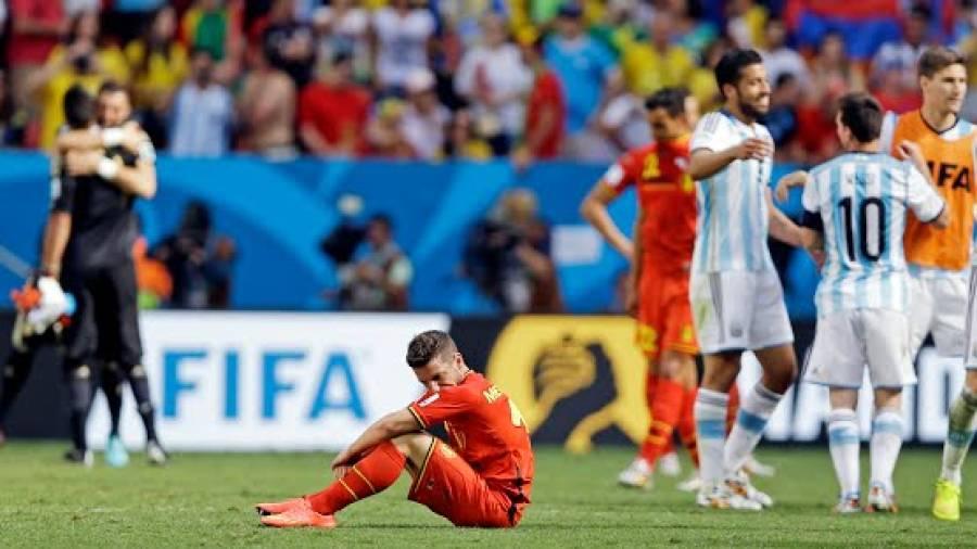 فٹبال ورلڈ کپ:ارجنٹینا نے بیلجیئم کو شکست دیکر 24سال بعد سیمی فائنل میں جگہ بنالی