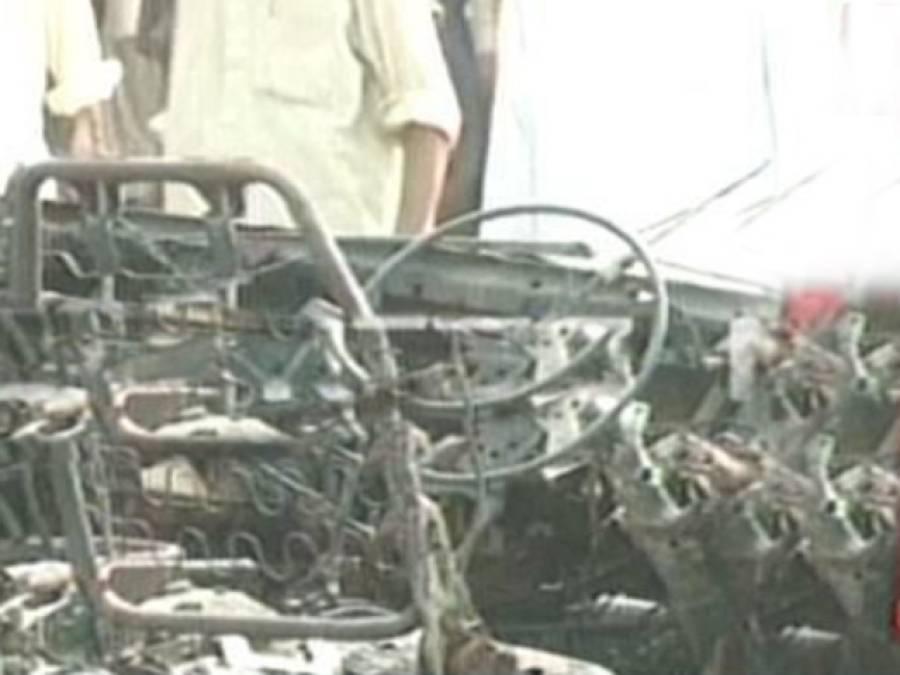 کوہاٹ روڈ پر ویگن میں دھماکہ ، سات مسافرجاں بحق