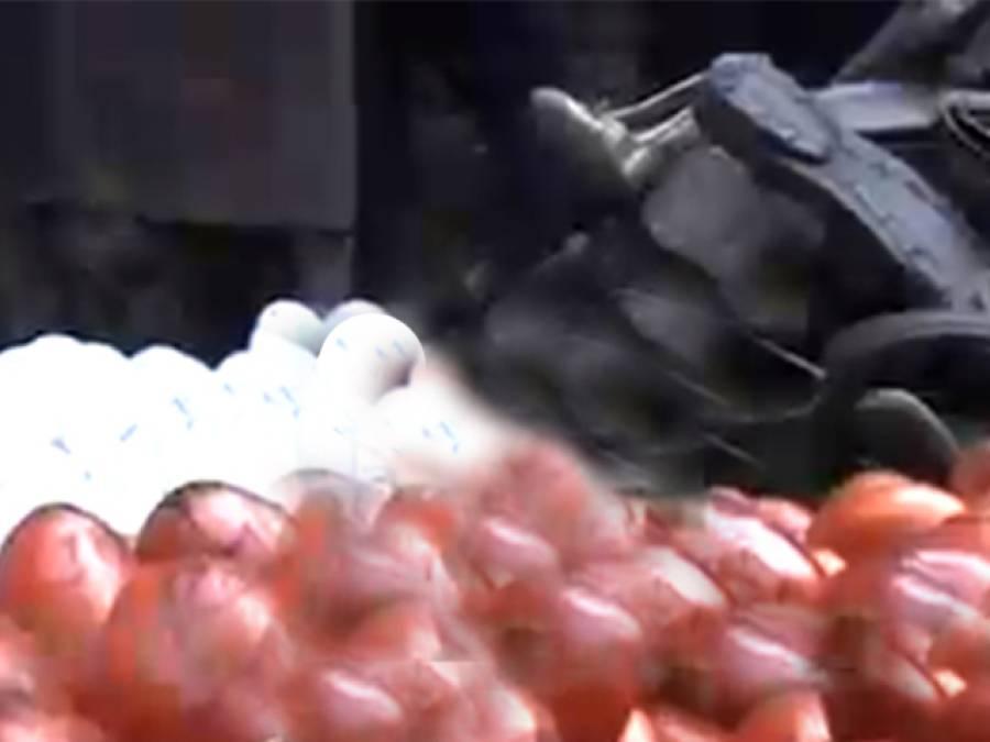 عمران خان کو انڈے ،جوتے اور ٹماٹر مارنے کا منصوبہ بے نقاب