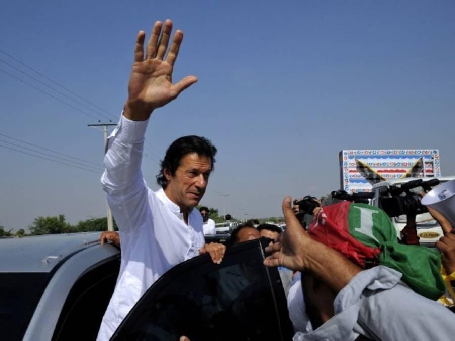 گوجرانوالہ میں 'سونامی' کی تیاریاں مکمل ، عمران خان جلسہ گاہ کیلئے روانہ