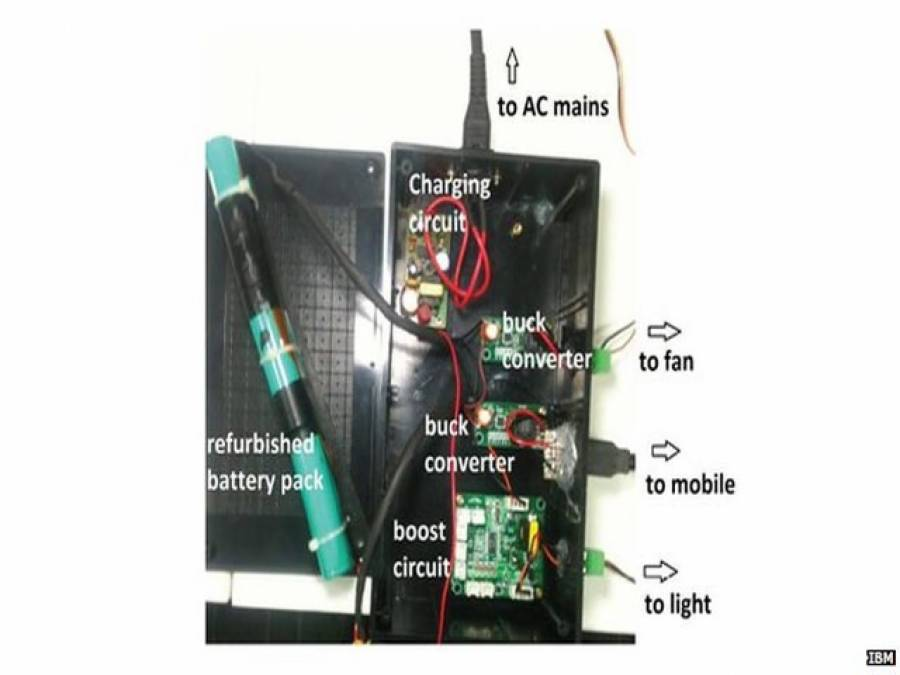 لیپ ٹاپ کی پرانی بیٹریوں سے کچی آبادیاں روشن کرنے کا منصوبہ،کٹ تیار