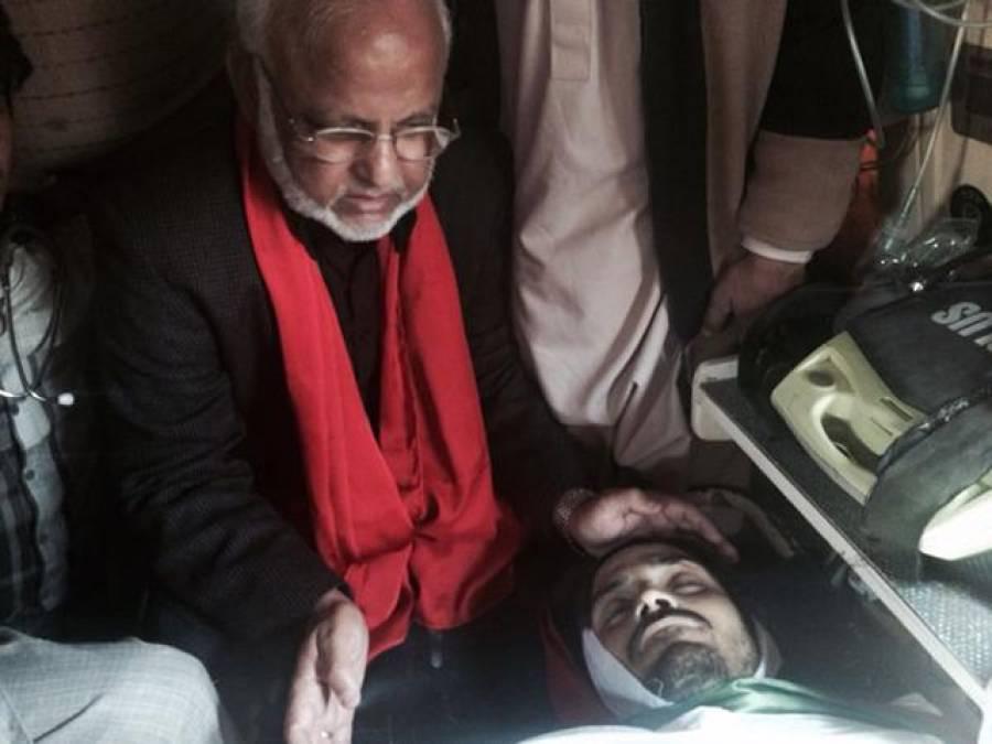 عمران خان کی ہلاک ہونے والے کارکن کے گھر آمد