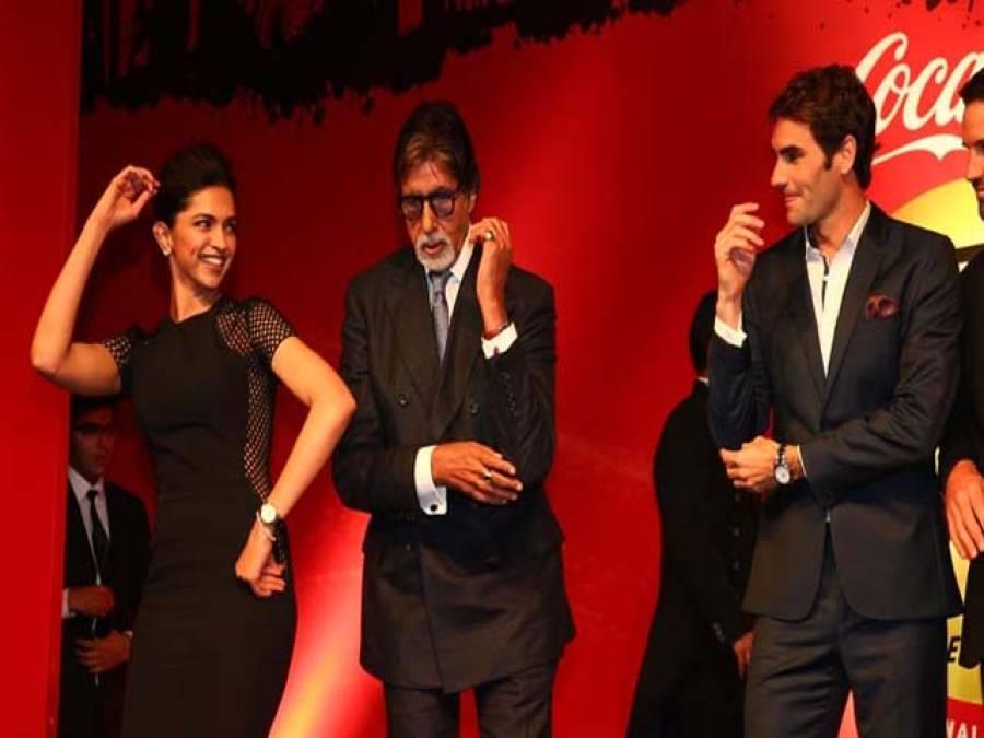 راجر فیڈرر بھارتی رنگ میں رنگ گئے ،امیتابھ و دیپکا کے ساتھ ڈانس