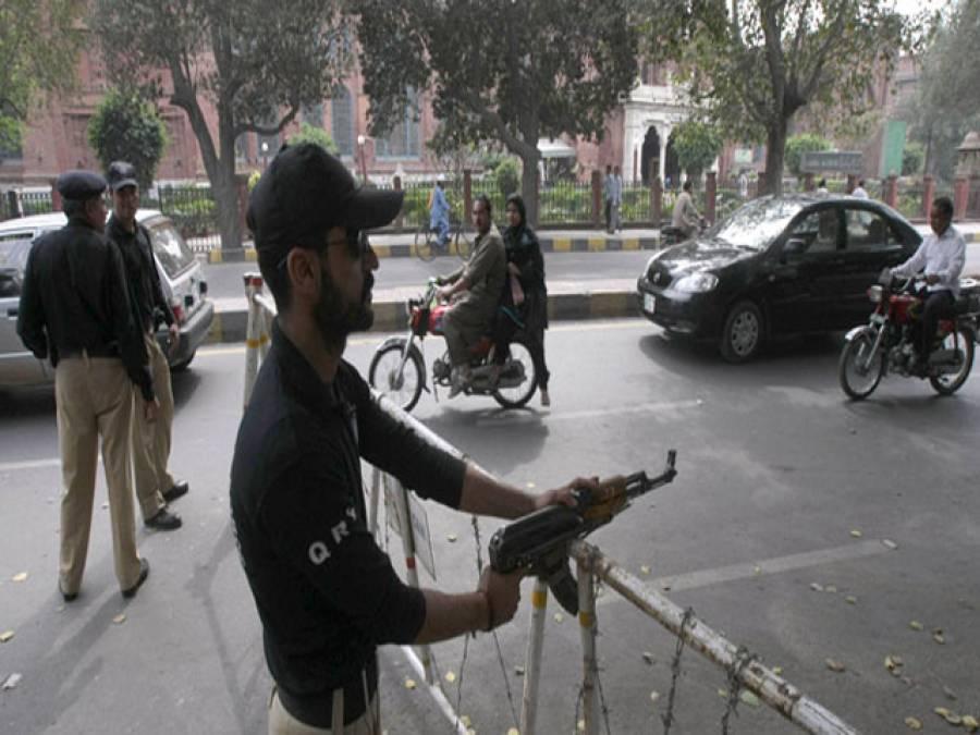 دہشت گردی کے ممکنہ خطرات ، لاہور میں سیکورٹی مزید سخت کر دی گئی