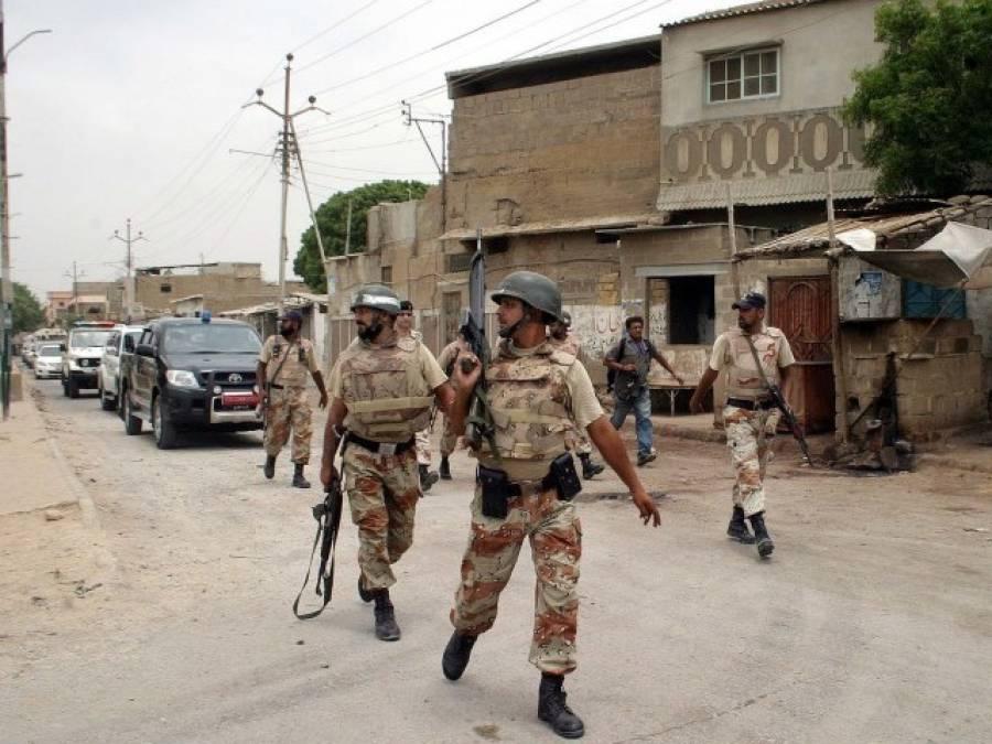 رینجرز کی کراچی کے علاقے سلطان آباد میں کاروائی ،کانسٹیبلزسے چھینا گیا اسلحہ بر آمد