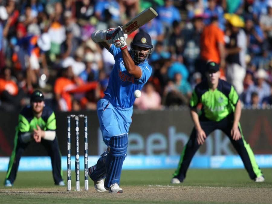 ورلڈکپ2015،بھارت نے آئر لینڈ کو 8وکٹوں سے شکست دیدی، دھون مین آف دی میچ