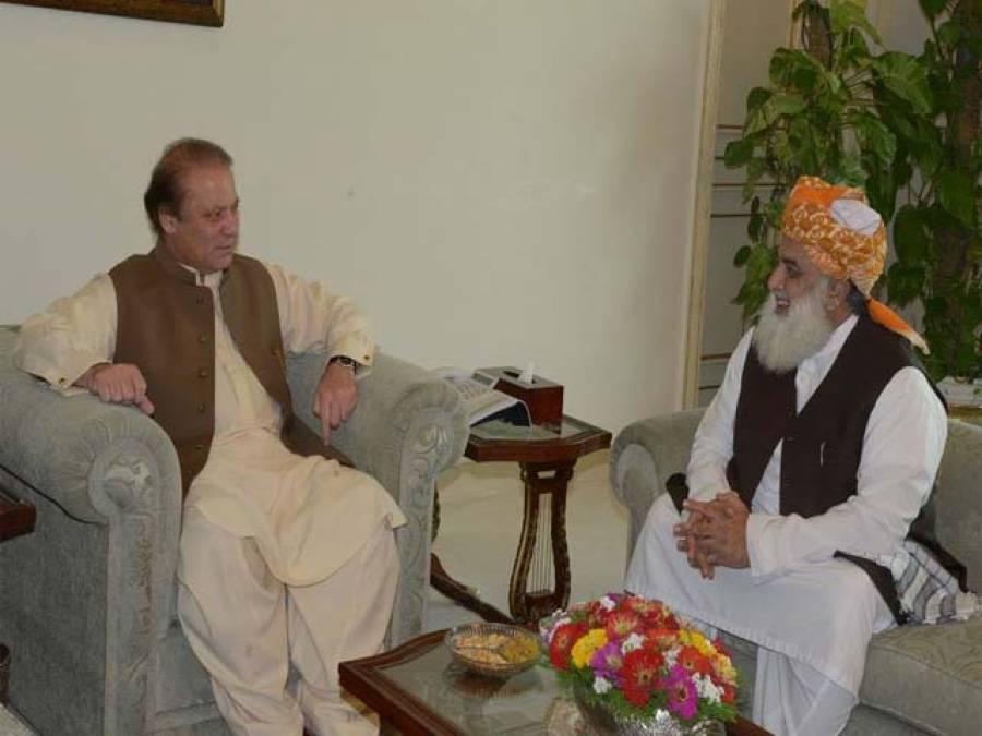 مولانافضل الرحمان کی وزیراعظم سے ملاقات ،رضاربانی کی حمایت کی تجویز دیدی