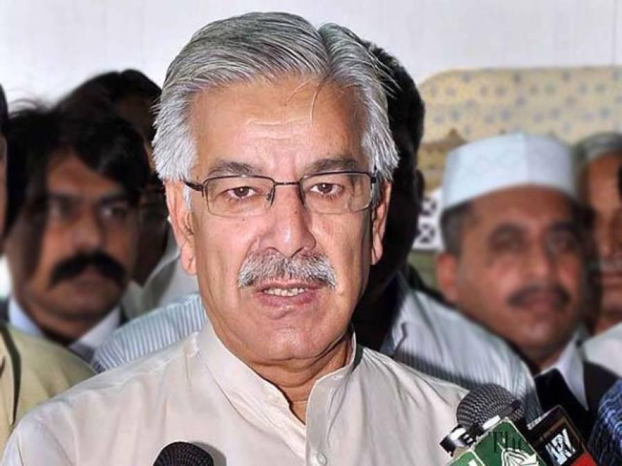 کراچی میں قانون کی رٹ بحال کرنے پر ایم کیو ایم شکایت کر رہی ہے : وفاقی وزیر دفاع