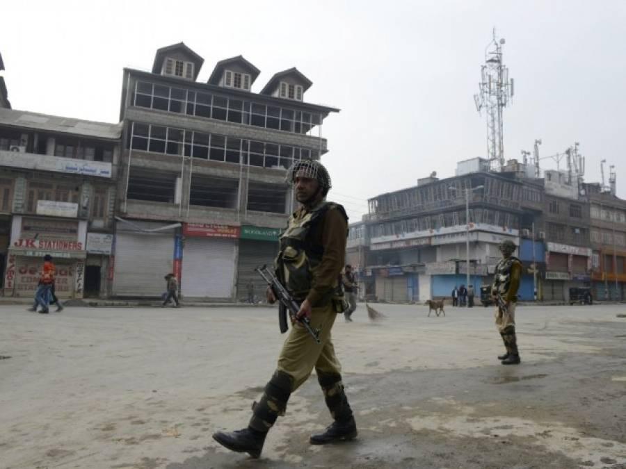 سری نگر'بھارتی پولیس کی مسجد پر آنسوگیس کی شیلنگ کیخلاف مکمل ہڑتال
