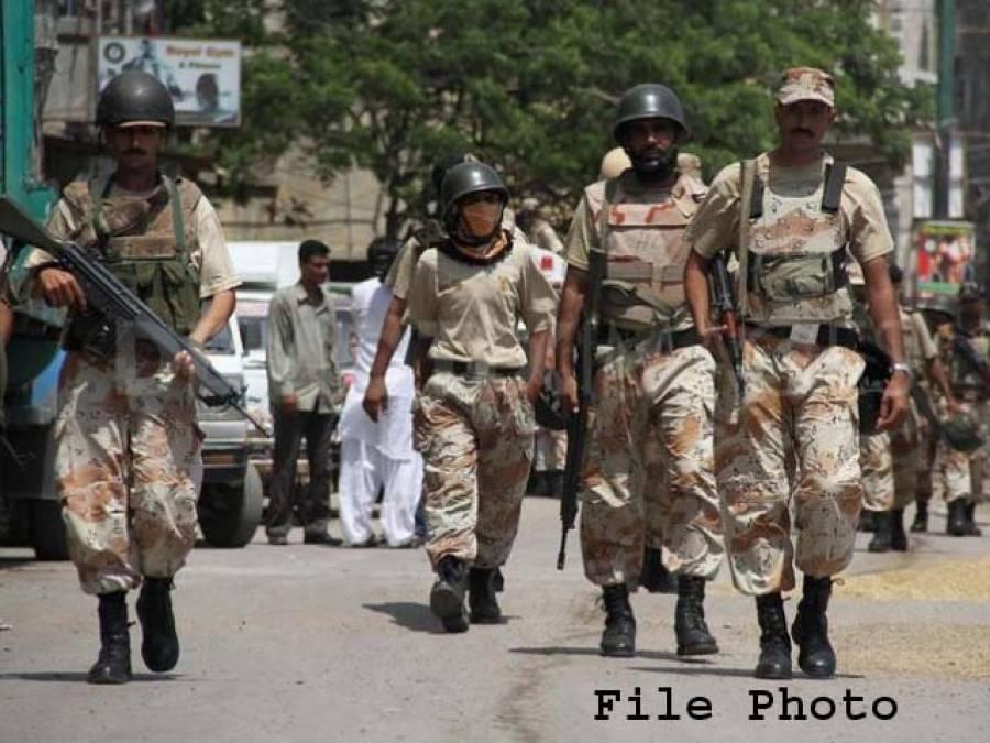 رینجرز کی مختلف علاقوں میں کارروائی، بھتہ خور اور ٹارگٹ کلرز سمیت 9ملزمان گرفتار ،اسلحہ برآمد