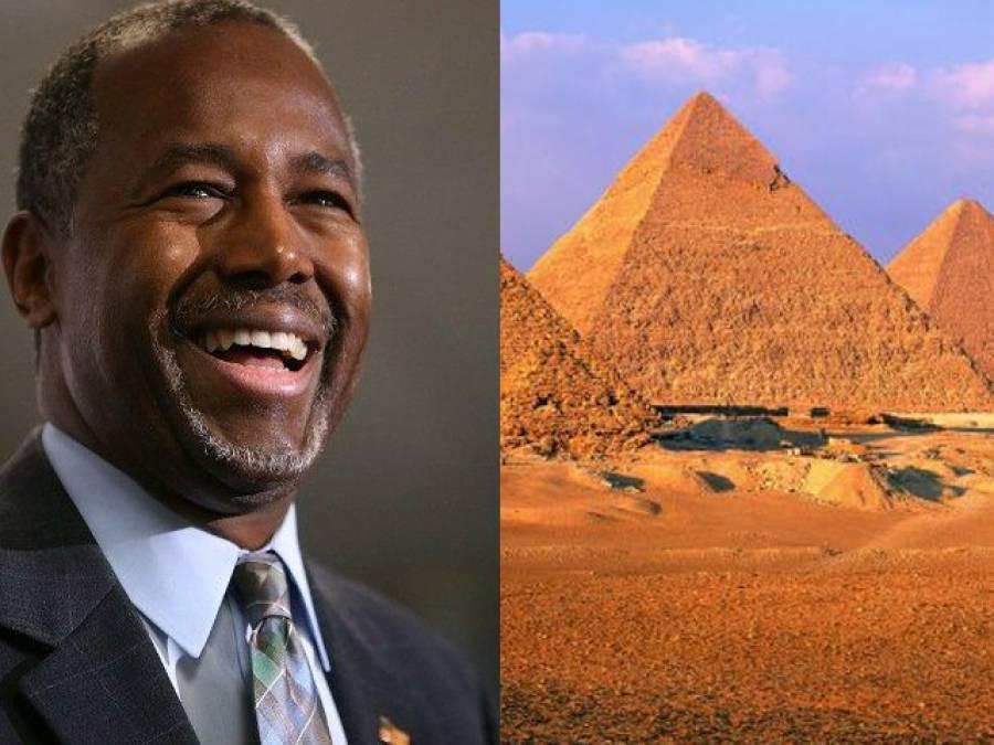 """"""" مصر کے اہرام دراصل اناج کو ذخیرہ کرنے کیلئے تعمیر کئے گئے"""" بیان پر متوقع امریکی صدارتی امیدوار کو تنقید کا سامنا"""