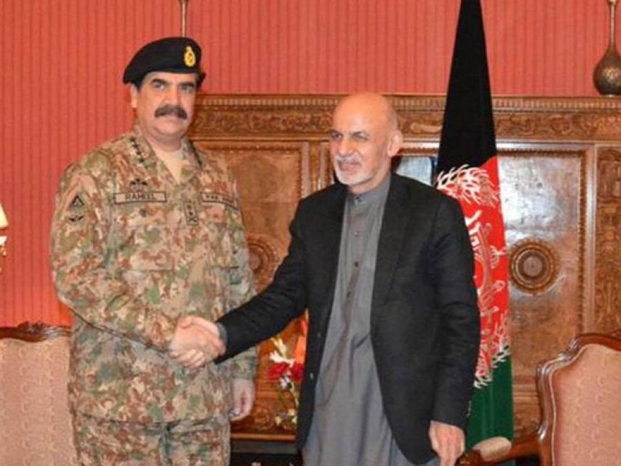 آرمی چیف کی افغان صدر کو انٹیلی جنس معلومات کے تبادلے اور آپریشنل تعاون کی یقین دہانی :آئی ایس پی آر