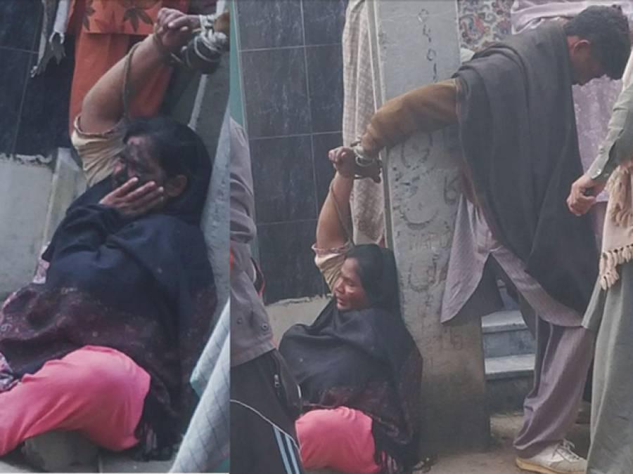 نوجوان لڑکی کے اغواء کا شک،اہل علاقہ نے میاں بیوی کا منہ کالا کر کے تشدد کا نشانہ بنا ڈالا
