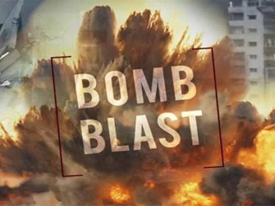 بم دھماکے میں 6پولیس اہلکاروں سمیت 9 افراد ہلاک ،10 زخمی