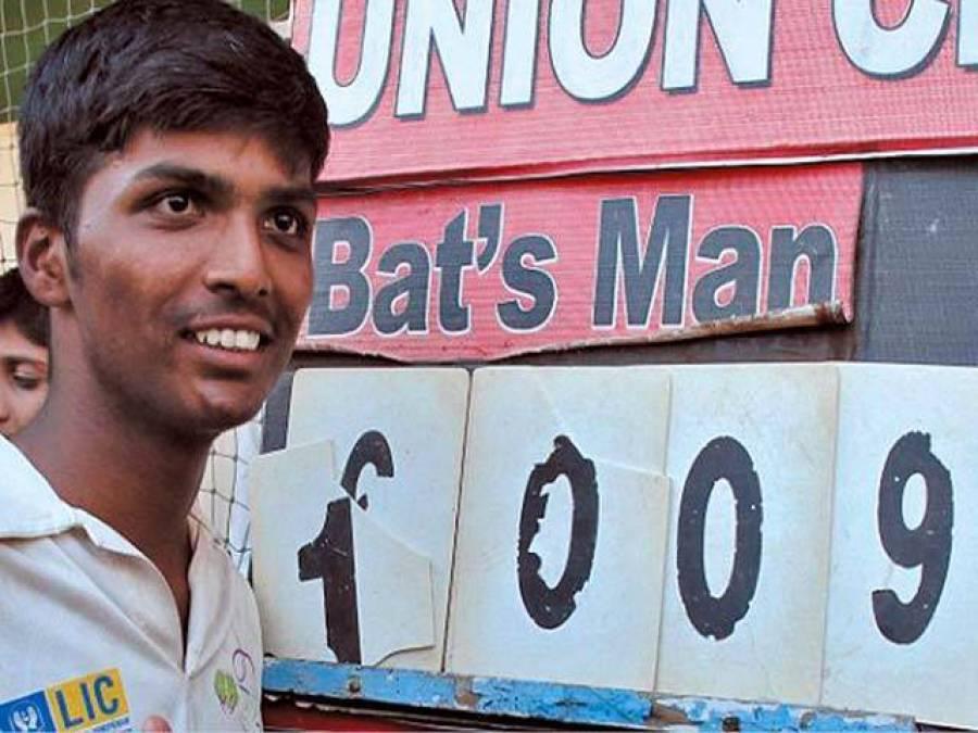بھارتی پلیئر کے اننگز میں 1 ہزار رنز کا پردہ چاک ہونے لگا