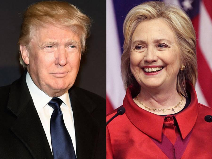امریکی صدارتی امیدوار کی دوڑ،ڈونلڈ ٹرمپ اور ہیلری کلنٹن آگے