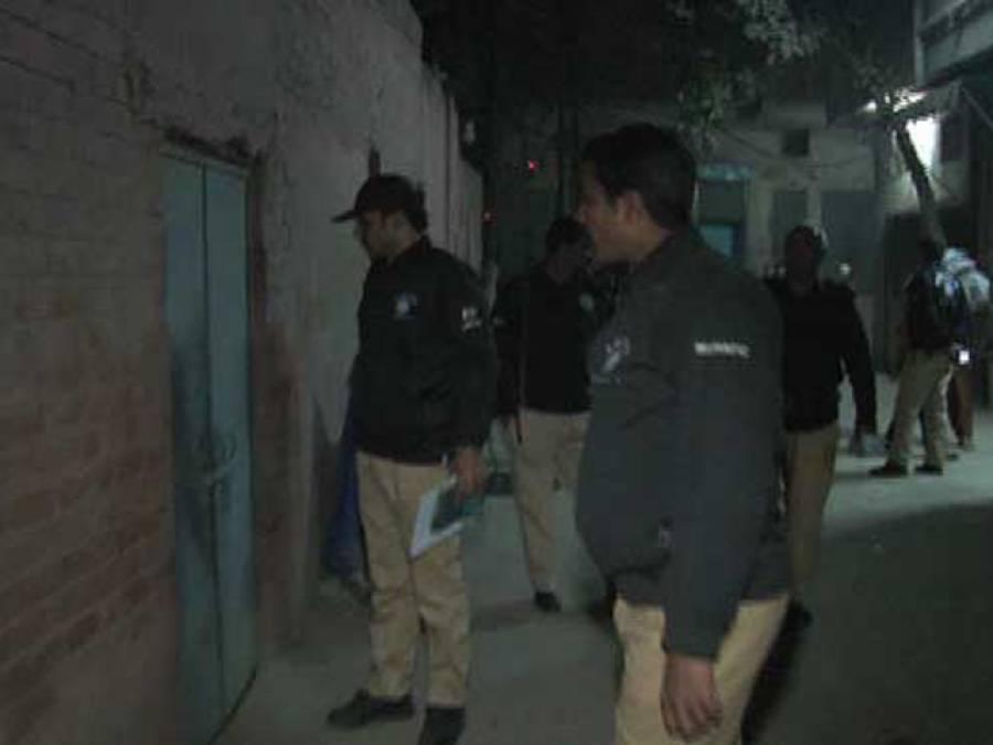 لاہور کے مختلف علاقوں میں سرچ آپریشن،12افراد زیر حراست