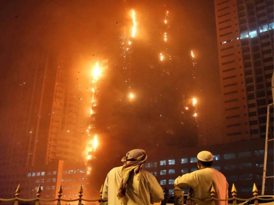 متحدہ عرب امارات کی ایک اور عمارت میں خوفناک آتشزدگی ، جل کر راکھ ہوگئی