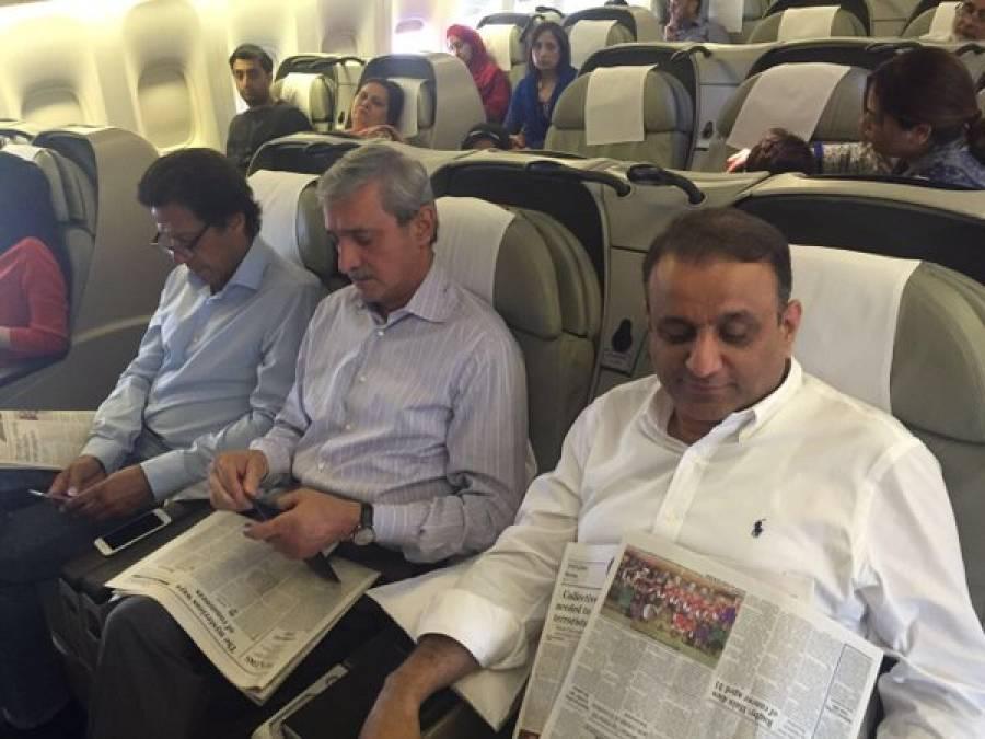عمران خان ،چودھری نثاراور شہباز شریف کی فیملی کے ارکان ایک ہی پرواز کے ذریعے لندن روانہ ہو گئے