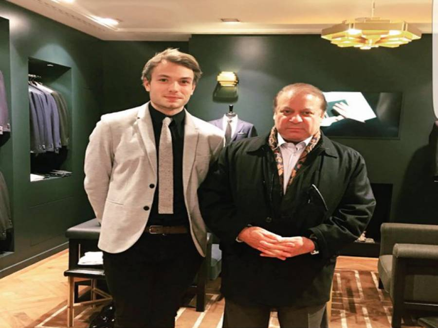 وزیراعظم نواز شریف لندن کے سپر سٹور پہنچ گئے، تصویر سوشل میڈیا پر وائرل ہوگئی