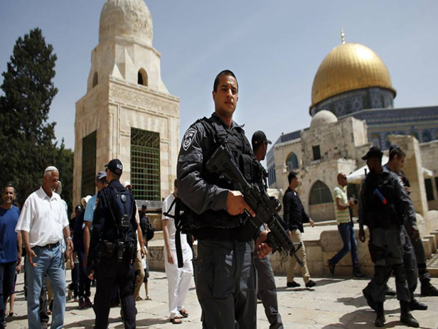 یہودی شدت پسندوں کا ایک ہفتے میں پولیس کی زیر سرپرستی مسجد اقصیٰ پر چوتھا حملہ، ممنوعہ مذہبی رسومات ادا کیں