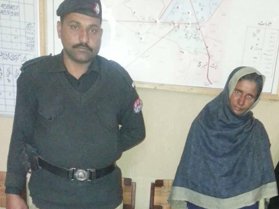کراچی میں پولیس کی کارروائی ،منشیات فروش خاتون گرفتار