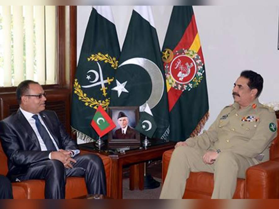 آرمی چیف جنرل راحیل شریف سے مالدیپ کے وزیر دفاع کی ملاقات