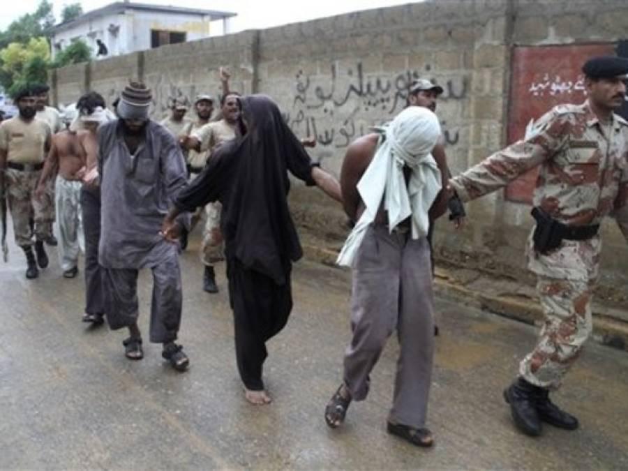 کراچی میں رینجرز کی کارروائیاں : افغانیوں سمیت 8ملزمان گرفتار، اسلحہ برآمد