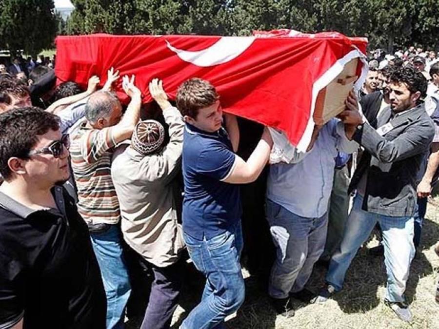 ترکی میں بغاوت کی کوشش کے دوران جھڑپوں میں شہید ہونے والوں کی نمازہ جنازہ ادا ،ترک صدر اور وزیراعظم کی شرکت