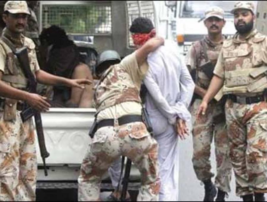 کراچی میں رینجرز کی کارروائی ،تین ملزمان گرفتار