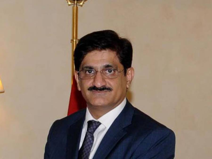 """وزیراعلیٰ مراد علی شاہ نے """"کے فور""""منصوبے کا دوبارہ سنگ بنیاد رکھ دیا"""