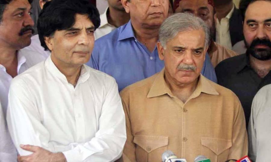 وزیر داخلہ چودھری نثار کی وزیر اعلیٰ شہباز شریف سے ملاقات، تحریک انصاف مارچ کے حوالے سے حکومتی پالیسی پر غور